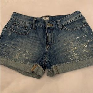 Girls Poli Ralph Lauren Jean Shorts NWOT